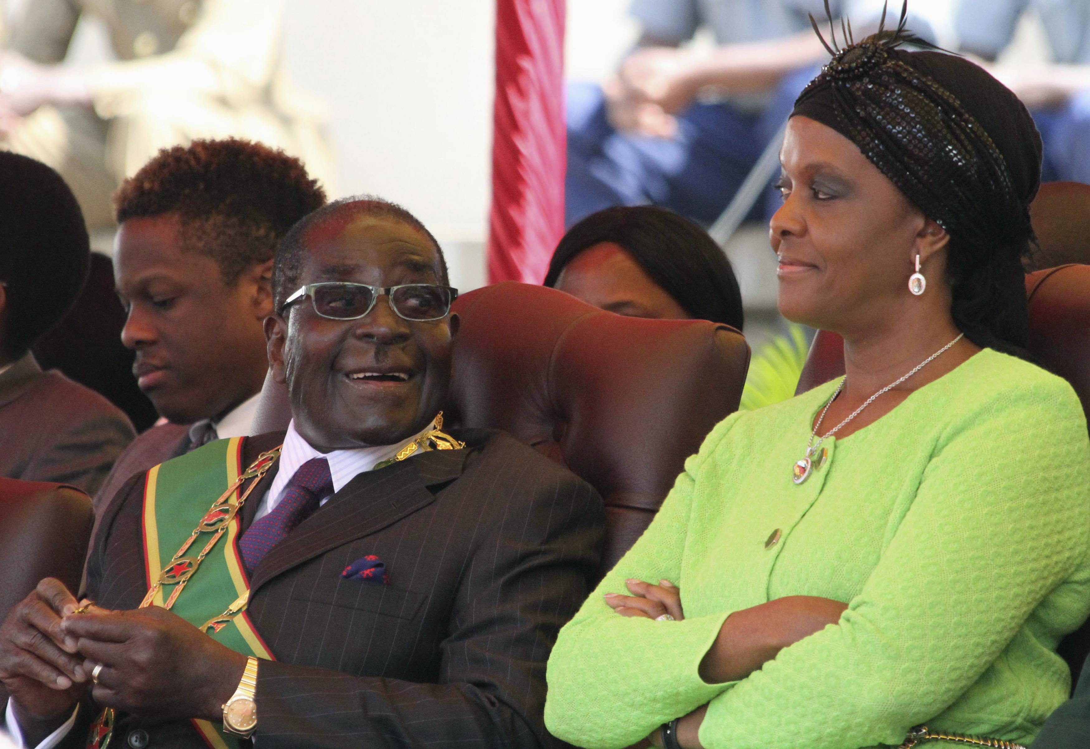 Billedresultat for robert mugabe and grace mugabe