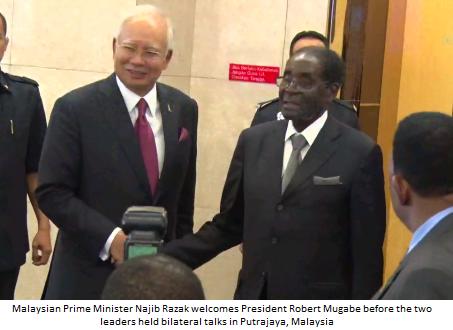 Zimbabwe's Mugabe in surprise visit to Malaysia
