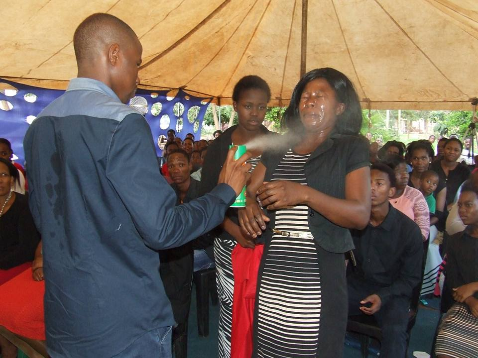 S.African 'prophet' sprays followers with insect killer