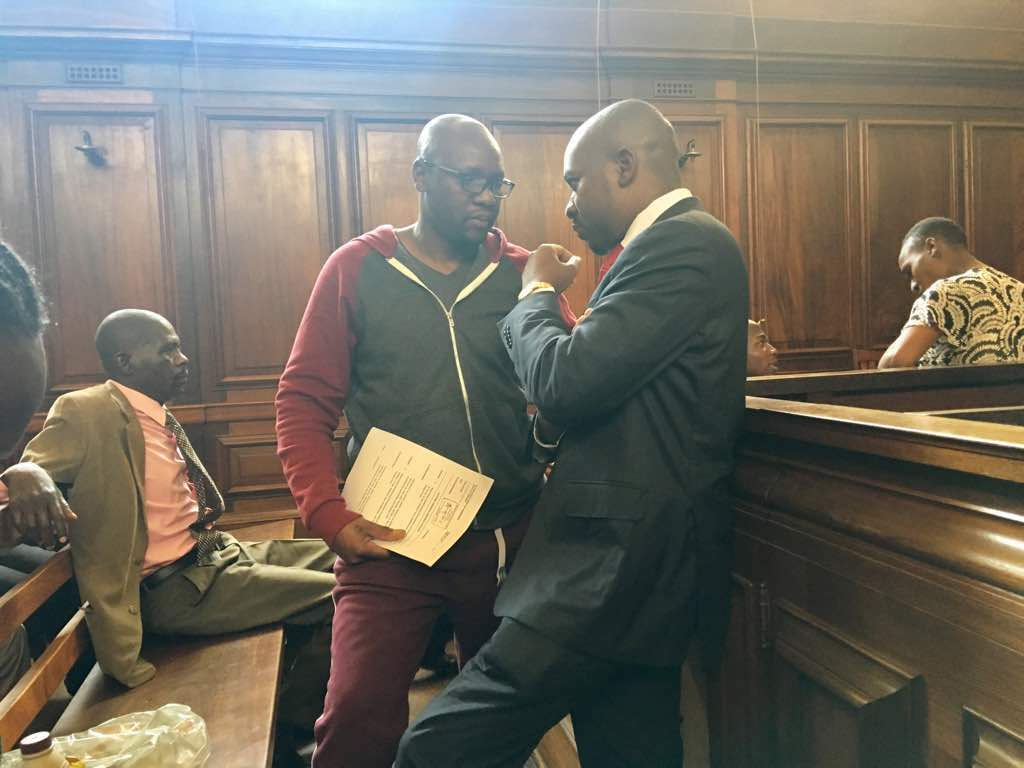 Pastor Mawarire in court in handcuffs