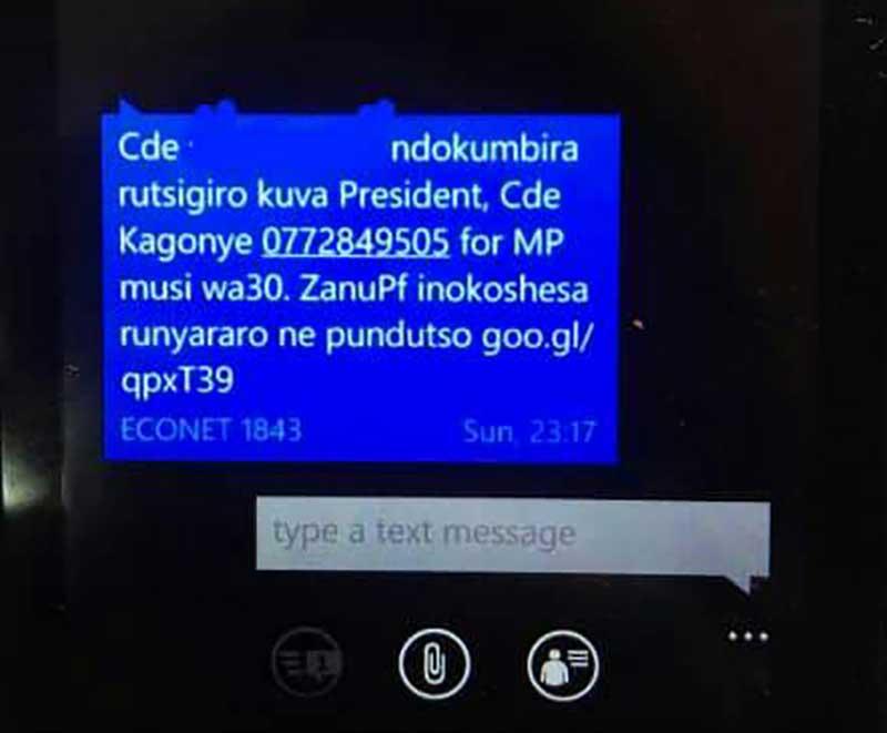 scary text messages lawyers sue zanu pf zimeye