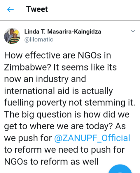 Linda Masarira Says NGOs Must Reform | Zambezi Post